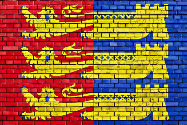 flag of cinque ports confederation painted