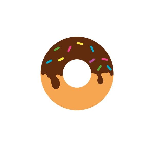 donuts vector icon logo illustration