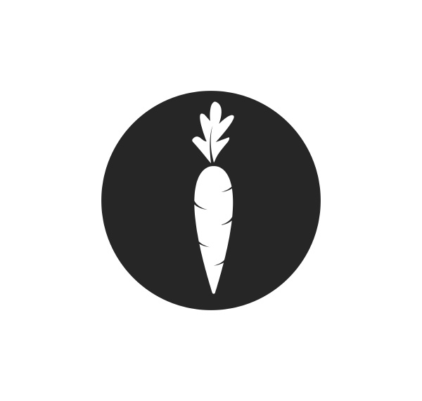 carrot logo icon vector illustration design