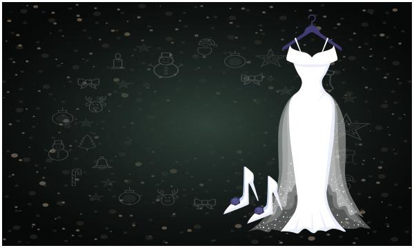 mock up illustration of sexy dress