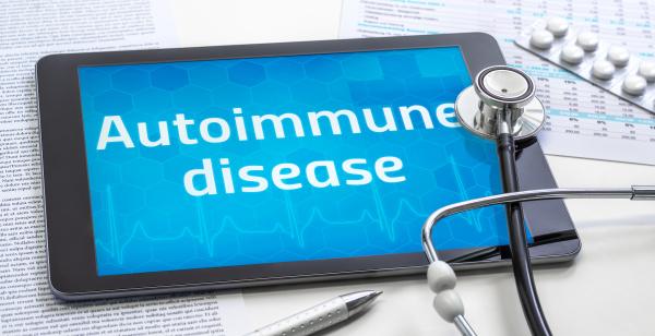 the word autoimmune disease on the