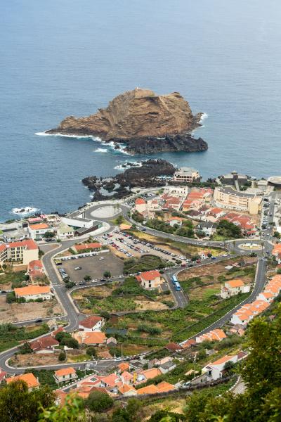 panoramic view on porto moniz madeira