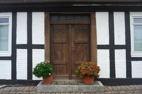 historic half timbered facade heiligenhafen