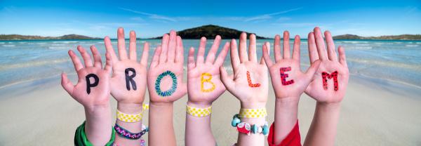 children hands building word problem ocean