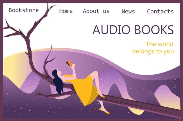 audio media and books landing page