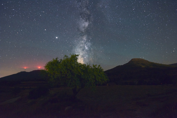 milky way on top of a