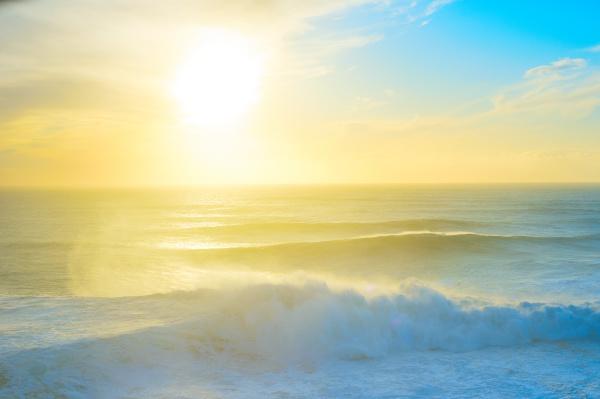 atlantic ocean sunset portugal colorful