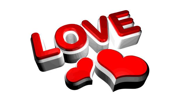 love heart red shiny illustration