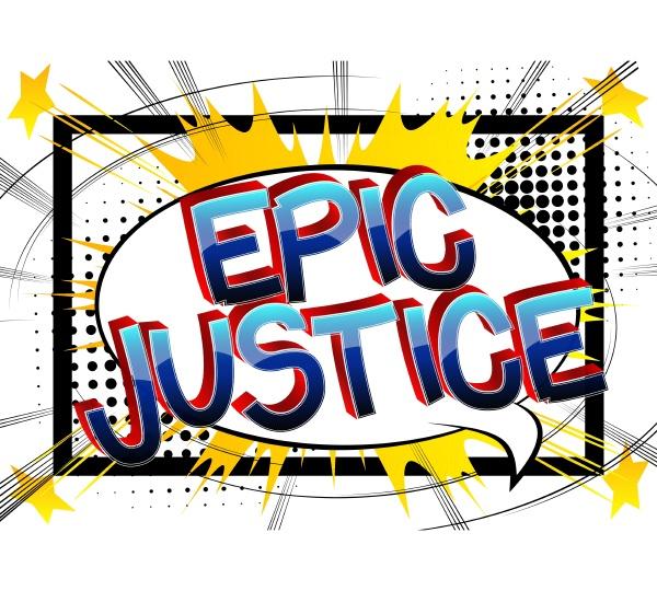 epic justice comic book style cartoon