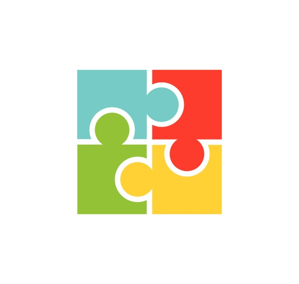 puzzle and community social network logo