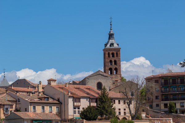 the old town of segovia