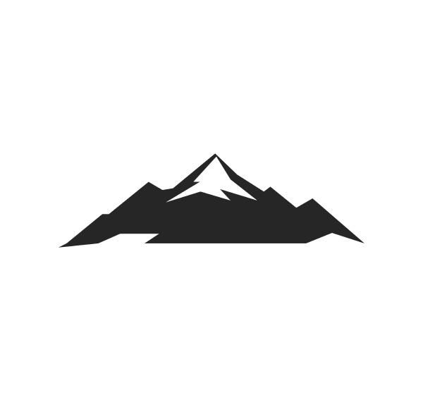 high mountain icon logo vector illustration