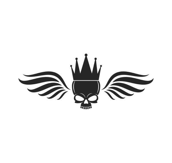 skull bone logo vector illustration
