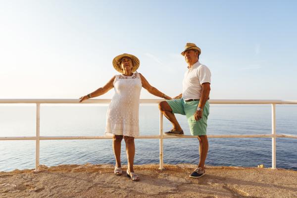 senior couple at viewpoint at the