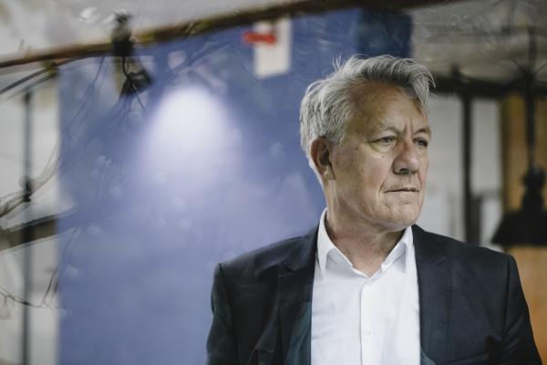 portrait of senior businessman looking worried
