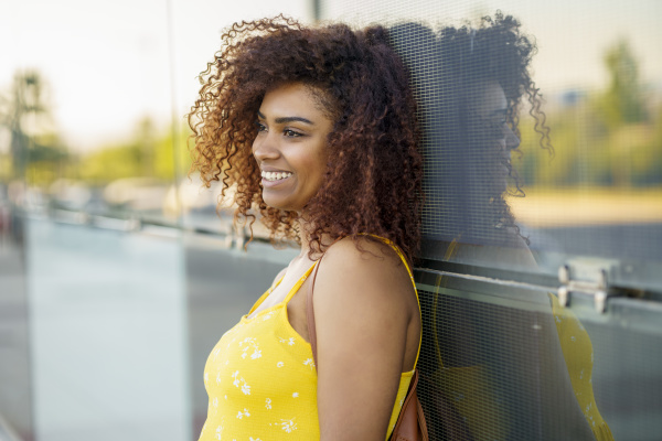 close up of smiling young woman