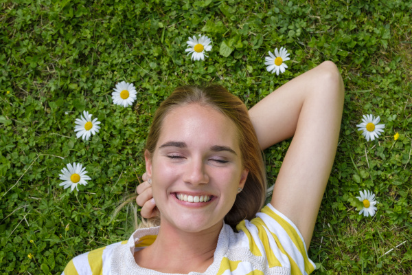 close up of smiling woman with