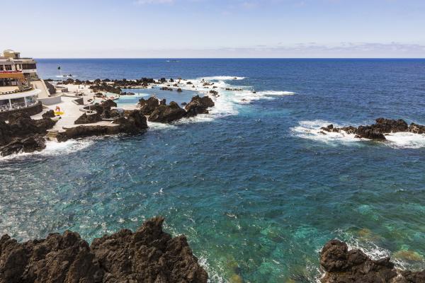 portugal porto moniz small rocky bay