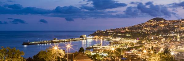 portugal funchal panorama of