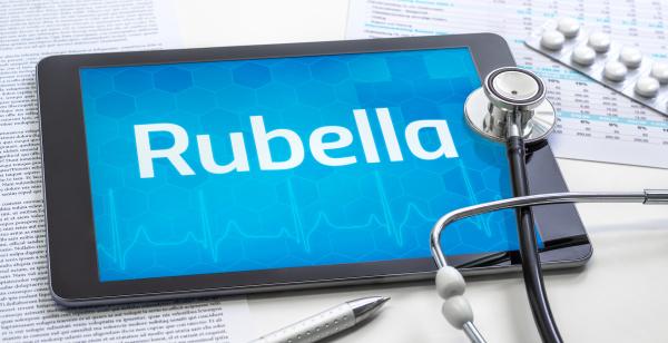 the word rubella on the display