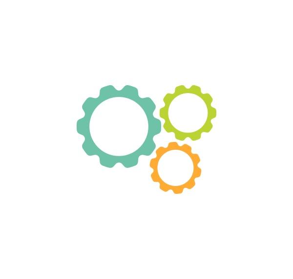 gear logo template vector icon illustration