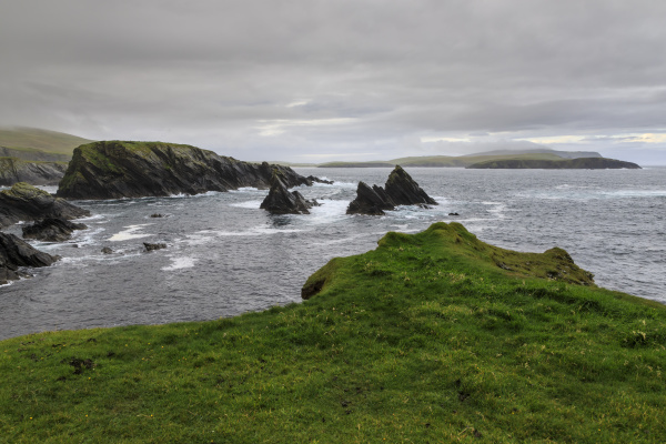 coastal scenery jagged cliffs and