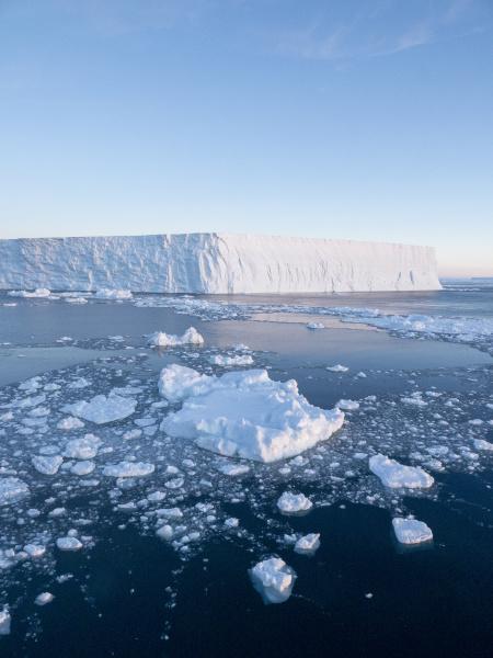 sea ice tabular icebergs and brash