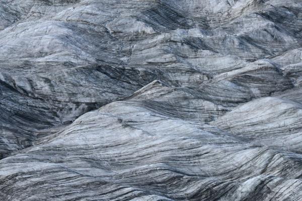 glacier ice flow shaped by wind