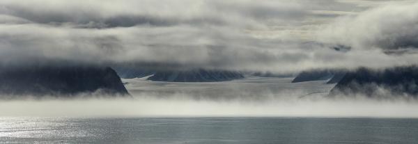 panorama image of glacier terminus nunavut