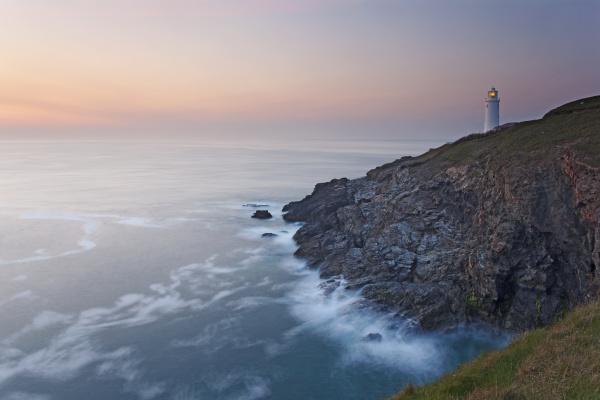 a peaceful dusk on cornwalls atlantic