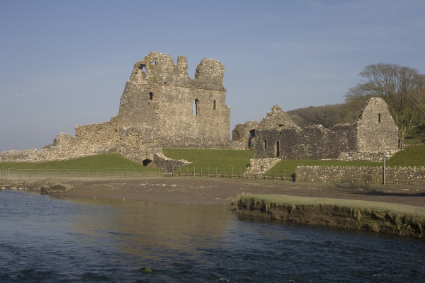 ogmore castle beside the ewenny river