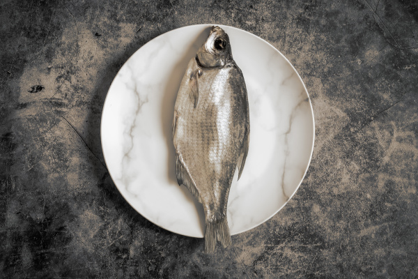 salted and dried fish on a