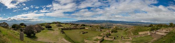 panorama of monte alban unesco world