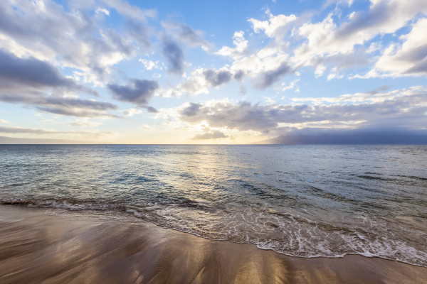 peaceful relaxing ocean view sunset kaanapali