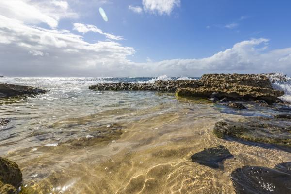 serene, , calm, water, on, hookipa, beach - 28784817