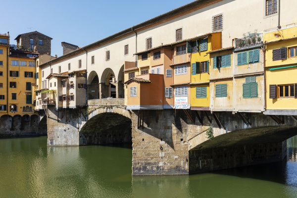 view of empty ponte vecchio river
