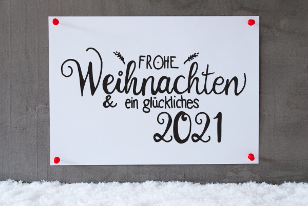 white paper sign snow