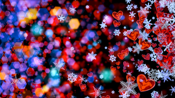 hearts and snowflakes as a symbol