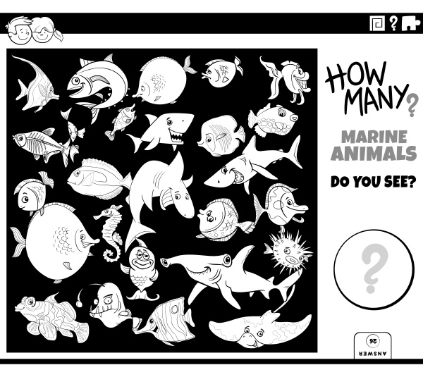 counting sea animals educational game coloring