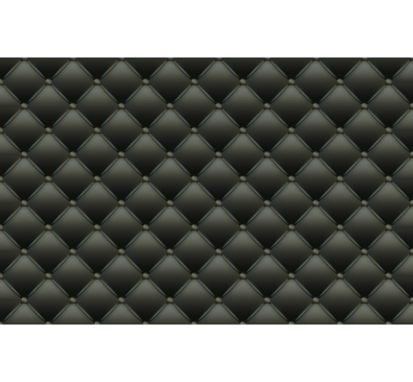 black texture of the leather quilted
