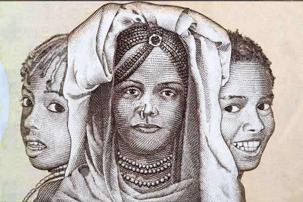 triptych of portraits eritrea children s