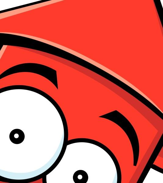 cartoon illustration of a worried firecracker