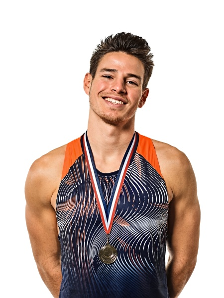 young man athletics athetle gold medalist