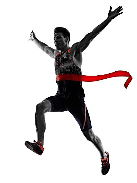young man athletics runner running sprinter