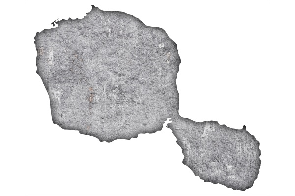 map of tahiti on weathered concrete