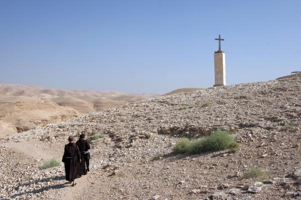monks in judea desert israel