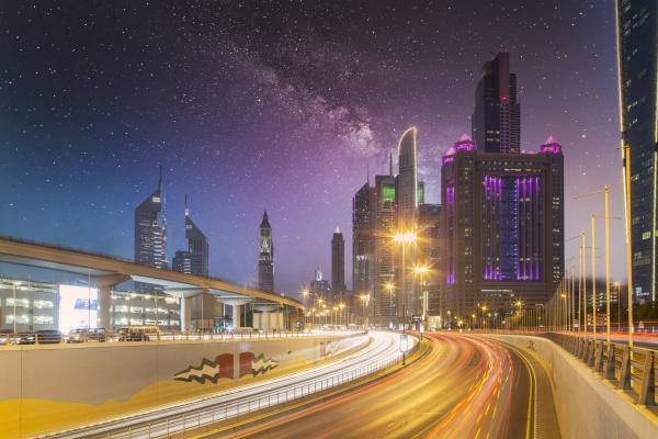 united arab emirates dubai traffic on