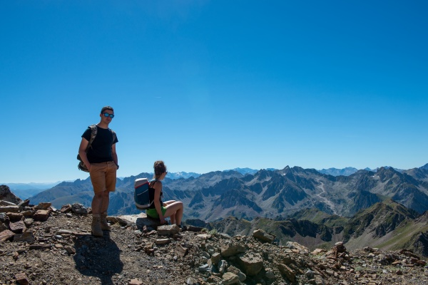 couple of hiker in the french