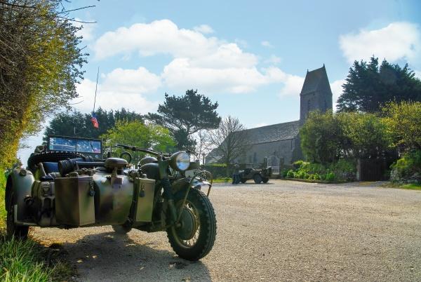 world war two german motorcycle church