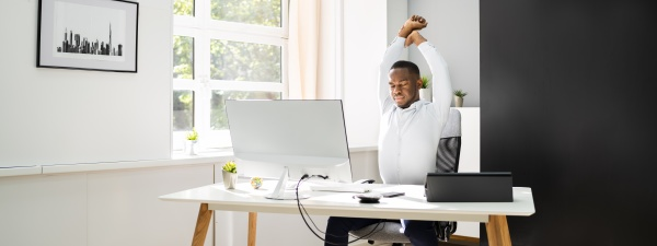 office stretch exercise at work